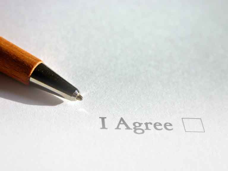 Sign our online Agreement for Wellness Services
